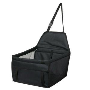 Faltbare Hund Katze Auto Sicherheit Reisetasche Haustier  Booster Träger Farbe Schwarz