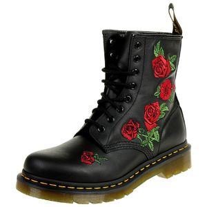 Dr. Martens 1460 VONDA Damen Stiefel Blumen Floral schwarz 24722001, Schuhgröße:EUR 39