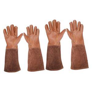 2x Lederschutzhandschuhe Gartenhandschuhe Für