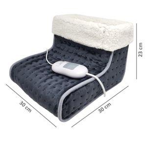 Fußwärmer - elektrische Fußheizung mit 3 Heizstufen und Schnellheizung - Beheizte Schuhe mit Überhitzungsschutz und Abschaltautomatik, Farbe:Weiß