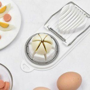 Eierteiler Eierschneider Eier Ei Morzarellateiler Zerkleinerer Messer Teiler 2 Funktionen Weiß