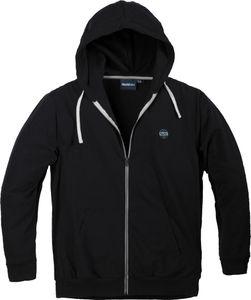 Sweat-Jacke mit Kapuze von Allsize in Übergrößen bis 8XL, schwarz, Größe:6XL