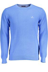 GANT Herren Pique Sweater, Farbe:Pacific Blue, Größe:M