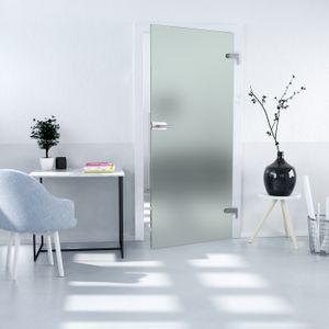 Ganzglastürblatt satiniert DIN rechts ESG 8mm x 709mm x 2097mm  Studio Ganzglastür Glastür Innentür Zimmertür Glastürblatt