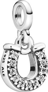 Pandora Me Charm Anhänger 798379CZ My Lucky Horseshoe Silber 925 Klare Zirkonia