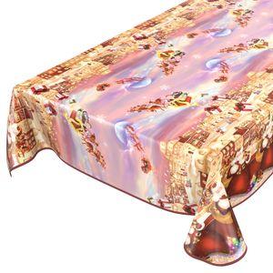Weihnachten Geschenke 200x140cm Wachstuch Tischdecke eingefasst