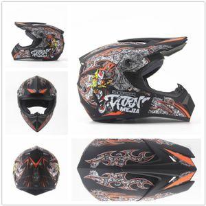 Megacooler Crosshelm Mejia Helm für Kinder matt schwarz Größe XS; Kinderhelm Motocrosshelm