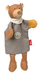 sigikid Handpuppe-Schnuffeltuch HoniBoniBear, Schmusetuch, Kuscheltuch, Hand Puppe, Baby Spielzeug, Bär, Braun / Grau, 39426
