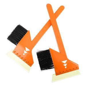 2 Stück Schneeschaber Bürste Kreatives Windschutzscheiben-Reinigungswerkzeug Schneeräumungs-Kit