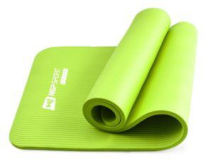Hop-Sport Gymnastikmatte 1,5cm - rutschfeste Yogamatte für Fitness Pilates & Gymnastik  - Maße 183cm Länge 61cm Breite - Grün