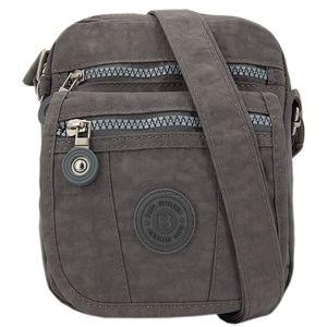 Kleine leichte nylon Tasche Handtasche Umhängetasche Crossover Damentasche Grau