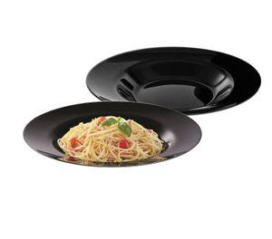 2 Pastateller schwarz 28,5cm Black Style