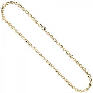 JOBO Halskette Kaffeebohnen Kette 585 Gold Gelbgold 50 cm Goldkette