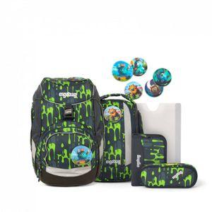 Ergobag Schulrucksack Set (6-tlg.), GlibbBär, Farbe/Muster: Slime