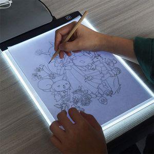 Leuchttisch LED Licht Pad A3 Leuchtplatte Tragbare Light Pad mit USB Kabel Designen Malen Zeichnen Animation Skizzierung