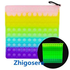 20*20cm Fidget Spinner Zappelspielzeug Antistress Spielzeug für erwachsene Kinder Push Bubble Fidget Sensory Toy