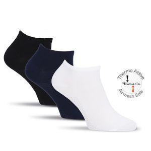 2 Paar Tamaris Bambus Sneaker Socken Thermo Active Airmesh Sohle für Damen Gr. 35/38 weiß
