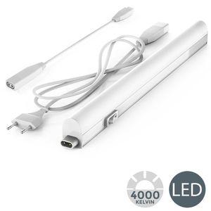 LED Unterbauleuchte Lichtleiste 31cm 4W 400 Lumen 4.000 Kelvin neutralweiß erweiterbar durch Stecksystem B.K. Licht
