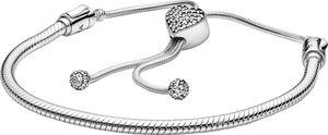 Pandora Armband 598699C01 Pandora Moments Pave 28cm Sliding Bracelet klare Zirkonia 28