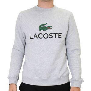 Lacoste Rundhalspullover Herren Sonstige Pullover Grau (SH0605 CCA) Größe: XL