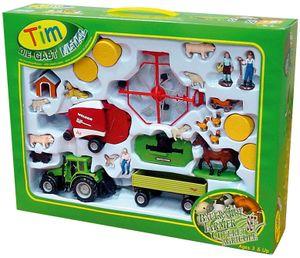 TIM 31002 Bauernhofset Deutz Traktor mit Geräten 1:32 Metall