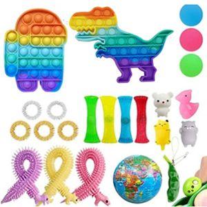 23 Stück Zappeln Sensorisches Spielzeug Zappelspielzeugset, zum Stressabbau Anti-Angst Dekompressionsspielzeug