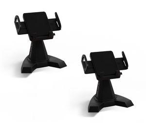 Desk Call | Doppelpack | flexible 360° Handyhalterung | Zubehör für alle Handygrößen | stabiler Smartphone Ständer für Schreibtisch, Küche, Nachttisch, usw.| das Original aus dem TV