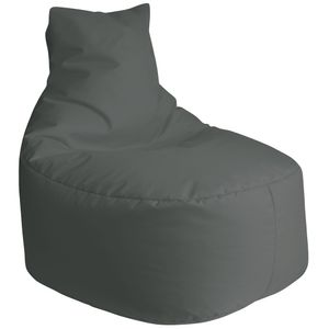 DILUMA  Sitzsack Leni 80cm  Anthrazit Für Indoor & Outdoor  Bezug Wasserfest & Füllung Herausnehmbar Für Gaming, Terrasse, Garten