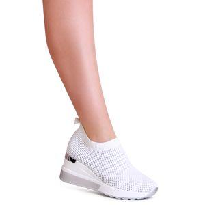 topschuhe24 2005 Damen Plateau Sneaker Halbschuhe Keilabsatz, Farbe:Weiß, Größe:39 EU