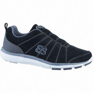 Brütting Dallas Slipper Herren Leder Sport Slipper schwarz, auswechselbare Textileinlegesohle, 4238213/42