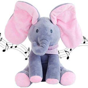 Verstecken und suchen Sie Musik Plüsch Elefanten, singen und sprechen Spielzeug, Baby Geschenke