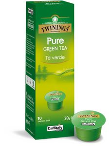 CAFFITALY Twinnings Pure Green Tea Te verde 3er Pack (Cafissimo kompatibel)