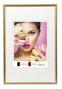 Photo Style Kunststoff Bilderrahmen 20x20 cm bis 50x70 cm DIN A4 A3 Fotorahmen Farbe: Gold | Format: 50x70