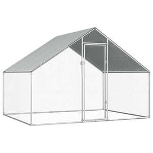 vidaXL Outdoor-Hühnerkäfig 2,75×2×1,92 m Verzinkter Stahl