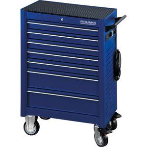 PROJAHN Werkstattwagen UNIVERSE, Blau, bestückt 320tlg, 7 Schubladen, PR6501-541