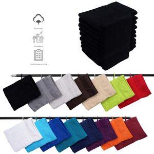 Müskaan - 10er Set Frottee Waschhandschuhe Elegance 16x21 cm 100% Baumwolle 500 g/m² Waschhandschuh, Farbe:schwarz