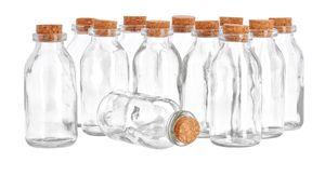 """12 Glasflaschen """"Minis"""", ca. 130ml, VBS Großhandelspackung"""