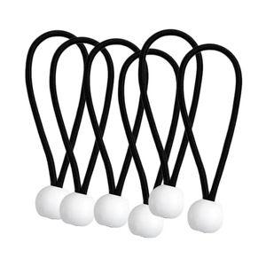 6 Stück Ball Bungee Cords Schwarz 8 Zoll