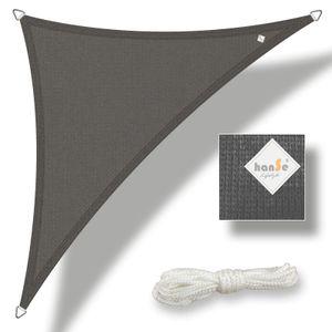 hanSe® Marken Sonnensegel HDPE Dreieck 3x3x3m Graphit UV-Schutz Sonnenschutz Schattenspender