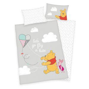 """""""Winnie Pooh ( Disney )"""" Bettwäsche /  Babybettwäsche / Kleinkinderbettwäsche, 100% Baumwolle ( Linon ), 40x60 cm + 100x135 cm"""