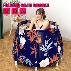 Faltbare Badewanne PVC SPA Wannenbad Badezimmer Bathtub Erwachsene Badeeimer