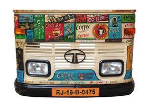 SIT Möbel LKW-Theke | recycelte Front eines Tata-LKW | Metall und Altholz | bunt | B 160 x T 43 x H 108 cm | 01054-60 | Serie THIS & THAT