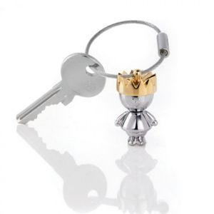 Schlüsselanhänger LITTLE KING verchromt von Troika