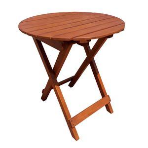 Tisch HANFORD, rund, klappbar - Eukalyptus