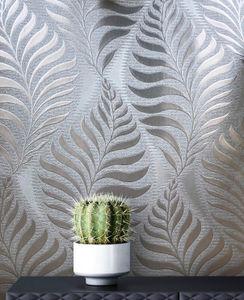 Tapete Blumentapete Grau Papier  Floral Modern Natur Blätter Zweige  Dantermac