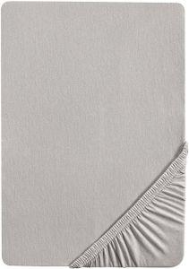 Castell Spannbettlaken 140x200 cm bis 16x200 cm, Spannbetttuch Stretch Jersey, sturmgrau