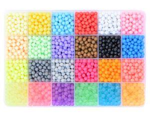 3000x Aquabeads Glitzer Set DIY Basteln Kinder Bastelset Glitzerperlen Perlen