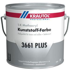 Krautol Kunststoff-Farbe 3661 Plus RAL7030 steingrau Betonfarbe, 5 Liter