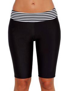 Sexydance Frauen Badeshorts Knielangen Hosen Badehose Bottoms Badeanzug Strandkleider,Farbe:Schwarz,Größe:L