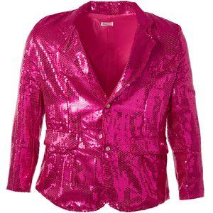 dressforfun Pailletten-Jackett Herren - pink, XXL